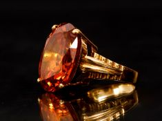 18K Yellow Imperial Topaz Ring