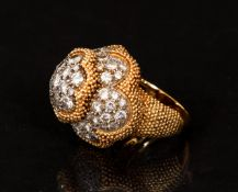 Cartier 18K Diamond Dome Ring