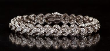 Cartier .950 Platinum Diamond Bracelet