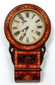 Dutch Victorian Inlaid Wall Clock