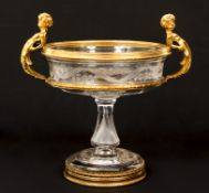 French Ormolu Mounted Cut Glass Centerpiece Bowl