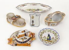 Collection of 6 Old Quimper Serving Pieces