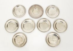 8 sterling bread plates plus sterling saucer