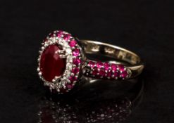 Le Vian 14K Ruby and Diamond Ring