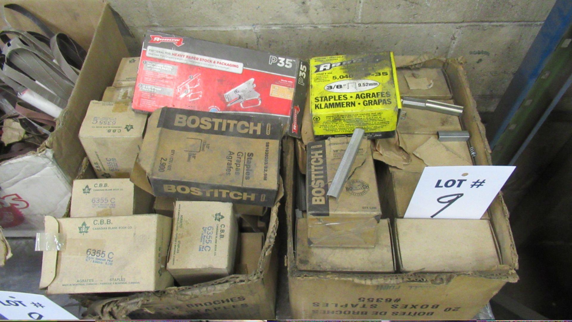 Lot 9 - BOX OF STAPLES