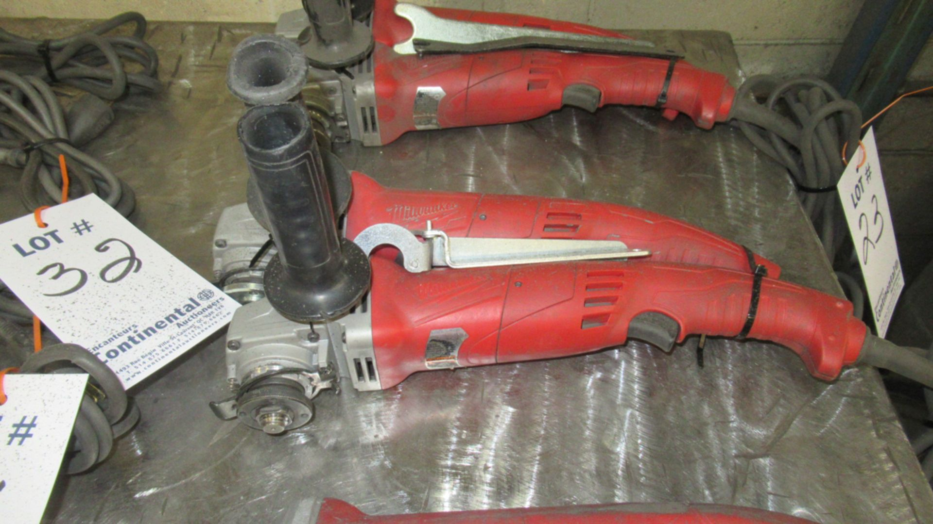 Lot 24 - LOT OF 2 MILWAUKEE ELECTRIC GRINDERS