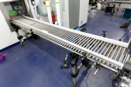 "(2017) 14' x 19"" Stainless Steel Gravity Type Discharge Conveyor"