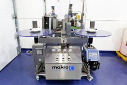 (2017) MAKRO LABELLING Model RLF, Roll Feed Labelling Machine, with NORDSON AltaBlue 4TT 4 Litre Hot