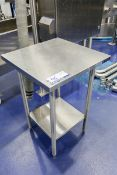 """25"""" x 24"""" x 36"""" Stainless Steel Table"""