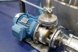 (2017) EBARA Model 3U-32-160BNB Stainless Steel Centrifugal Pump with TECHTOP 7.5HP Drive Motor, 575