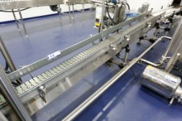 """(2017) Stainless Steel Conveyor, 10' x 8"""", Stainless Steel Link Chain, w/ Variable Speed Drive"""