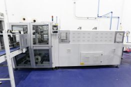 (2017) SMIPAK Model BP802ARV 350RS, Monoblock Fully Automatic Shrink Wrap Machine, with 90° Infeed