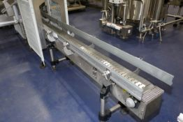 """(2017) Stainless Steel Conveyor, 18' x 8"""", Stainless Steel Link Chain, w/ Variable Speed Drive"""
