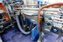 """Stainless Steel Bottle Cooling Exit Conveyor with Blower, 72"""" x 8"""" Wide"""
