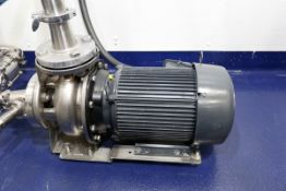 (2017) EBARA Model 3U-50-125NB-184JM Stainless Steel Centrifugal Pump with NIDEC 7.5HP Drive