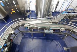 "(2017) ""Y"" Type Stainless Steel Conveyor, Flex Link Plastic Chain, 14' length, w/ SEW 1hp Variable"
