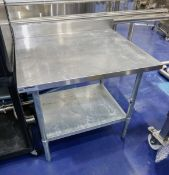"""36"""" x 39"""" x 35"""" Stainless Steel Table"""