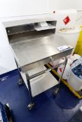 """24"""" x 24"""" x 46"""" Stainless Steel Mobile Workstation"""