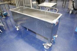 """63"""" x 21"""" x 36"""" Stainless Steel Mobile Single Compartment Sink"""