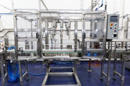 """(2017) 3 Head In-Line Water Filling Station with (3) IFM SM800 Electronic Valves c/w 9' x 8"""""""