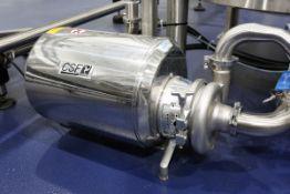 (2017) CSM Model Cs50-1425-2-5.5.24NPT31, Stainless Stell Centrifugal Pump, with WEG 5.5HP Drive