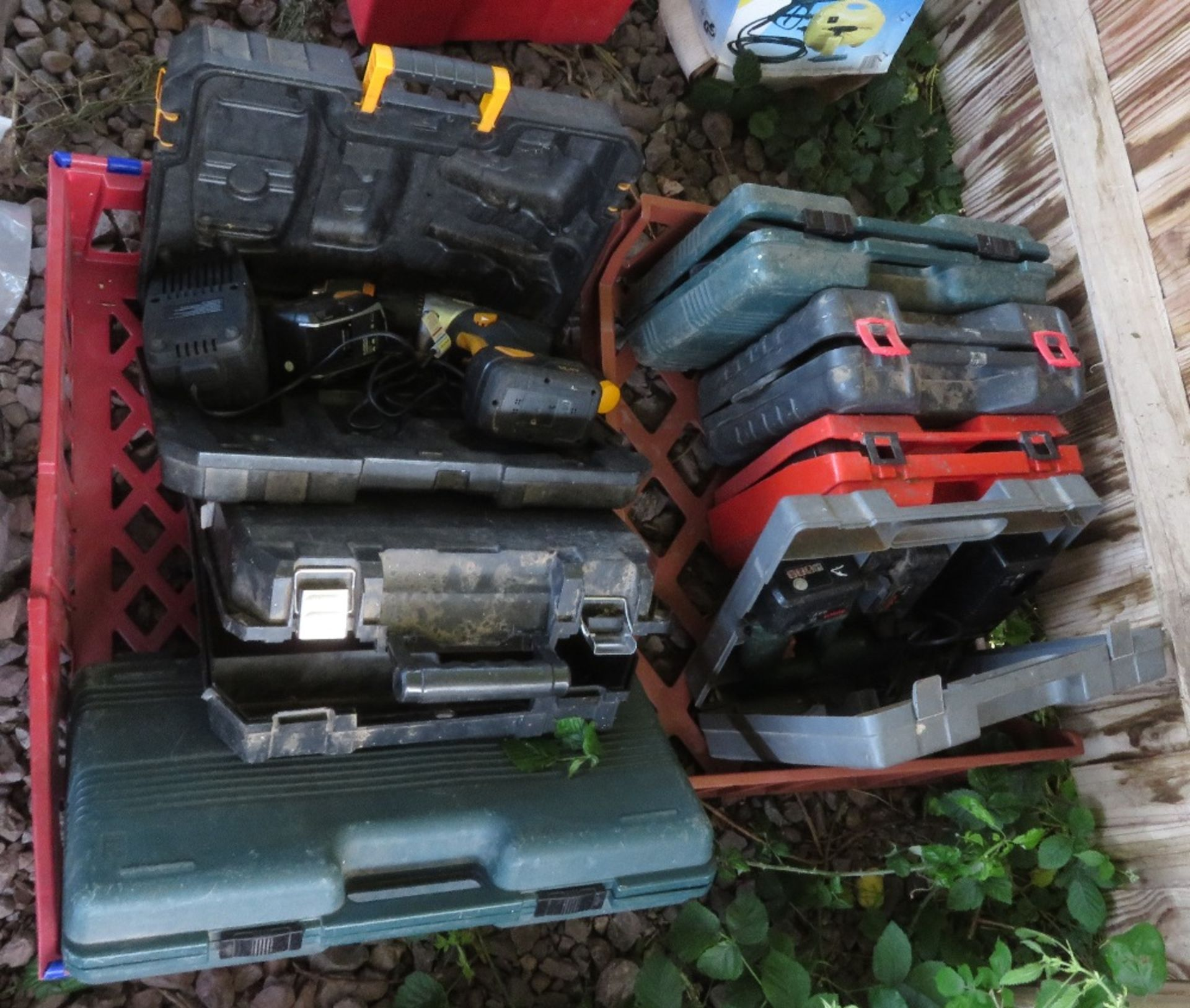 Lot 71 - Quantity of cased power tools mainly rechargeable drills of various descriptions plus 1 skill drill,