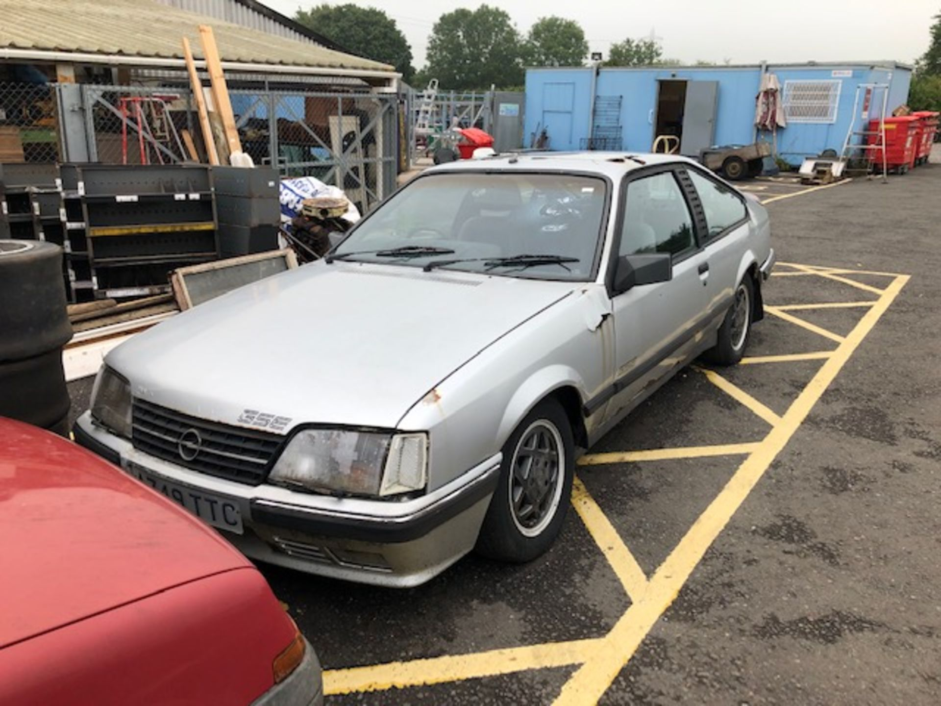 Lot 3 - Silver Opel Monza GSE Reg No A749 TTC. Rusted through in many panels including roof, wing, doors