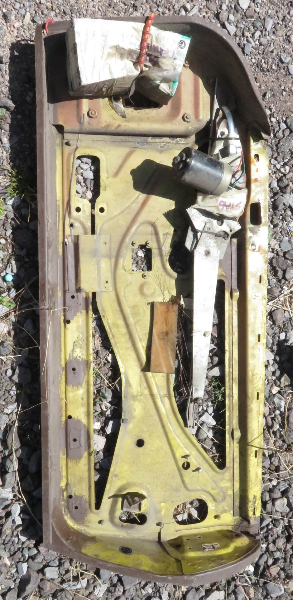 Lot 117 - WITHDRAWN Bumper for Triumph believed Stag, also door for Triumph Stag with new old stock