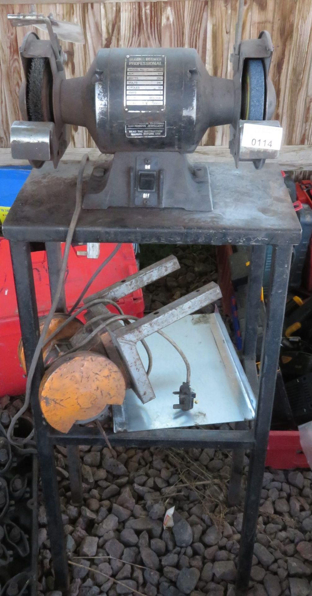 Lot 114 - Grinder on bench with another grinder