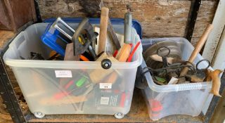 2 BOXES OF HAND TOOLS