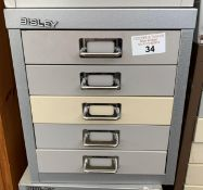 BISLEY COUNTER TOP MULTI DRAWER CABINET