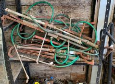 COLLECTION OF BRASS STIRRUP PUMPS