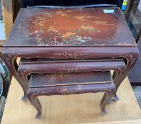 CHINOISERIE STYLE HAND PAINTED NEST OF TABLES