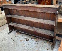 STAINED OAK DRESSER TOP/BOOKCASE