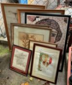 QUANTITY OF FRAMED PICTURES