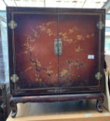 CHINOISERIE STYLE HAND PAINTED CUPBOARD