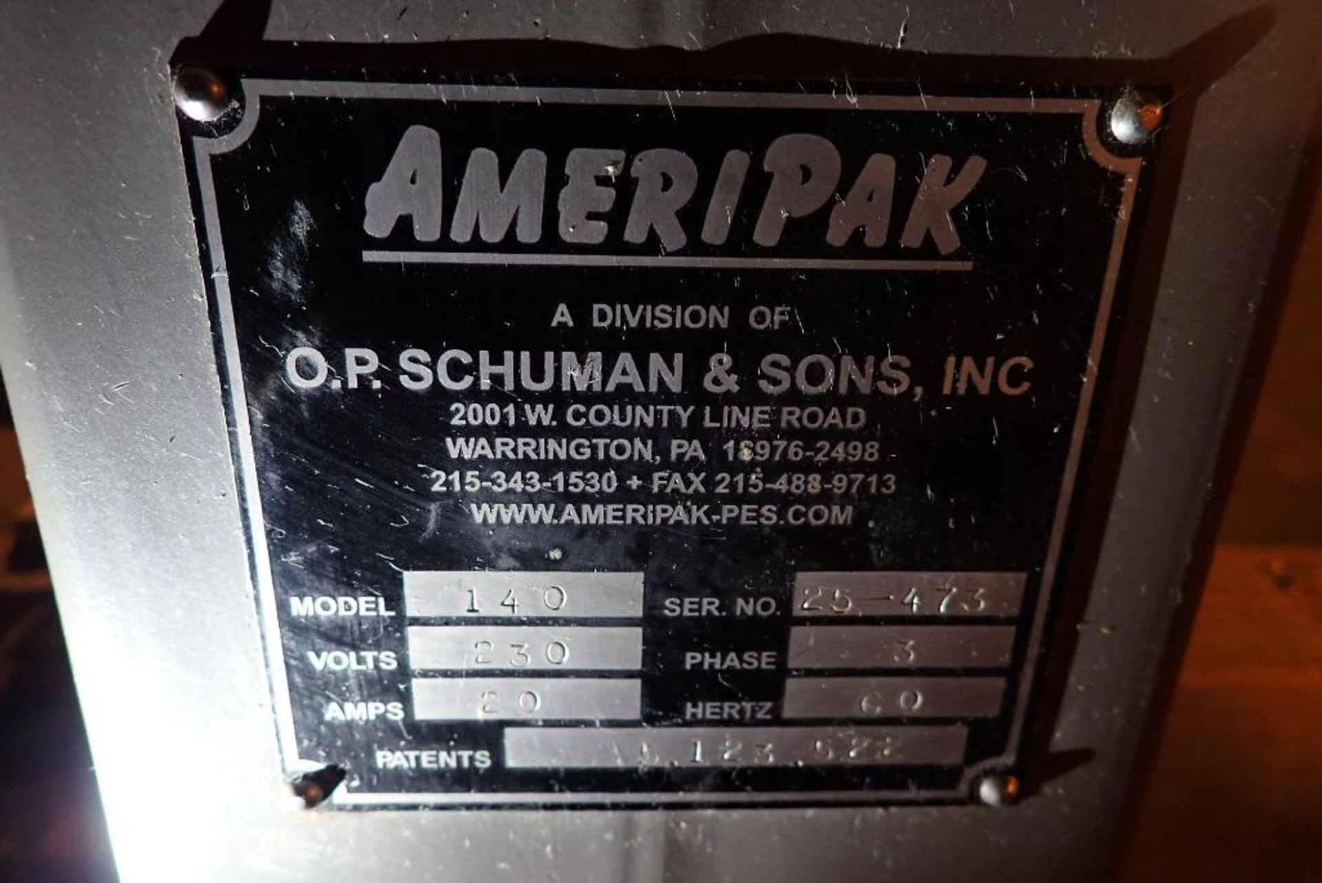 Lot 179 - Ameripak flow wrapper