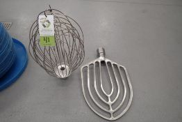 Hobart 140 quart attachments including SS whisk & SS paddle