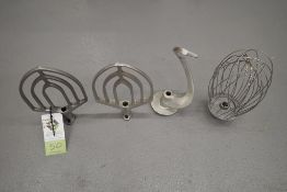 Hobart 20 quart mixer attachments including SS whisk