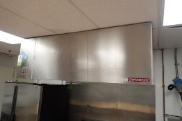 Captive Aire SS exhaust hood with fire suppression and lights