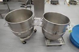 Hobart 140 quart SS bowls