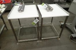 (2) butcher tables