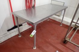 SS table 72 in. long 30 in. wide x 33 in. tall