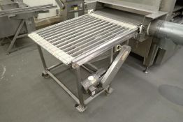 Incline wire belt conveyor