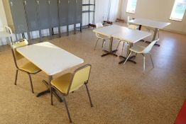 (4) lunchroom tables and chairs (LOT)