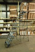 11-step rolling warehouse ladder