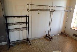 (2) hanger coat racks