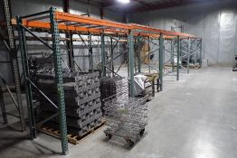 6 sections of teardrop pallet racking