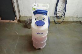 Ecolab plastic foaming cart