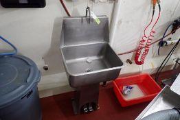 SS single bay hand wash sink
